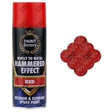 X3 ROSSO MARTELLATO effetto vernice Spray può esterno interno in metallo ruggine 400ml