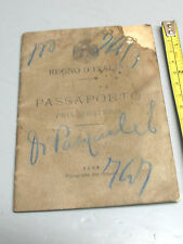 PASSPORT  1902 VITTORIO EMANUELE III  NICOLA  ROSSI  1888  TUFILLO  CHIETI