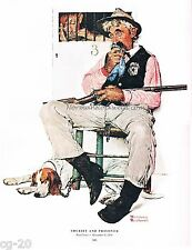 Norman Rockwell vintage Police Officer print: SHERIFF & PRISONER Jail courthouse