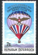 Austria 2001 Hot Air Balloon/Aviation/Transport/Flight/Aero Club 1v (n24741)