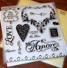 Close to My Heart CTMH D1445 AMORE ~ HEARTS, LOVE, Two hearts that beat as one