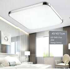 Modern Bedroom Square LED Ceiling Light 28W Living Room Surface Mount Fixture LE
