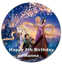 Rapunzel Tangled Disney Personalised Cake Topper Edible Wafer Paper 7.5""