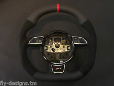 Flat bottom AUDI A3 A4 A5 S4 S5 A6 S6 steering wheel S- line paddle shifters