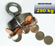 Super Strong NEODYM Magnet 290kg pull TREASURE Hunting, Metal Detector, Aimant
