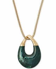 In Box -MICHAEL KORS Autumn Luxe Jade Green Pendant Necklace MKJ5775