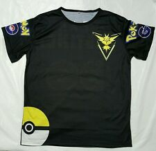 Pokemon Go Team instinct Pokeball Nerd Anime T-Shirt Tops Size S unisex