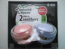 TOMMEE TIPPEE   DECORATED CHERRY SOOTHERS  0-6 months x 2