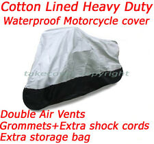 Lined All Weather Heavey Duty Deluxe Motorcycle Cover Honda Helix all year B