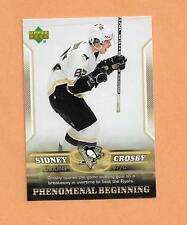 Sidney Crosby Rookie Upper deck 2006 Phenomenal Beginings Card # 10