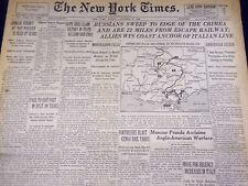 1943 OCTOBER 31 NEW YORK TIMES - RUSSIANS SWEEP TO EDGE OF THE CRIMEA - NT 1758