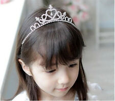 Girls Rhinestone Crystal Tiara Hair Band Bridal Princess Prom Crown Headband
