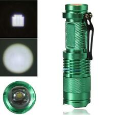 Portable 7W 1200lm CREE Q5 LED Mini Zoomable Flashlight 14500/AA Torch Green TL