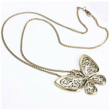 Women Fashion Retro Carved Butterfly Pendant Long Chain Sweater Necklace Hot