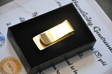 24K Gold Plated High Quality Solid Metal Money Clip Card Clip Holder Slim Cash