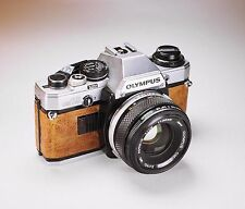 Olympus OM10 SLR / Brown Leather / LightBurn Film Camera / 50mm f1.8 OM lens