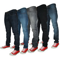 NEW MENS CONSPIRACY JEANS C603590 DESIGNER SKINNY FIT JEANS ALL WAIST & LEG SIZE