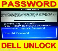 Dell Inspiron PASSWORD UNLOCK System Admin BIOS PPID error 23x 8x 16x digits