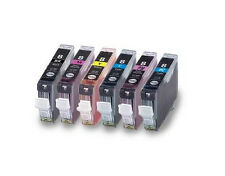 6PK New Ink For Canon CLI8 CLI-8 BK/C/M/Y/PC/PM Pixma MP950 960 970 iP6600 6700D