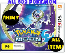 Legit Unlocked Pokemon Moon - All 802 Shiny Pokemon and Alolan Forms, All Items!