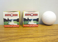 2 EXPLODING GOLF BALLS EXPLODES IN A CLOUD OF SMOKE GAG GIFT PRANK