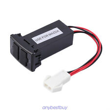 Dual Port Auto Car 2.1A USB Charger Socket Dashboard with Audio Port For Mazda