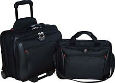 SwissGear Potomac 2-Pc Business Set Overnighter Bag Rolling Case And Laptop Bag