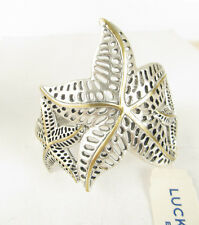 NWT Lucky Brand Two-Tone Triple Starfish Cuff Bracelet  $45