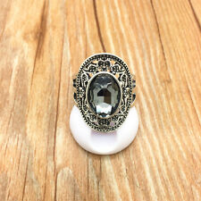 Vintage Jewelry 316L Stainless Steel Fashion Design Transparent Ring Size 11 T11