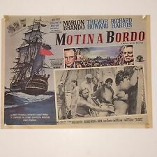 "Rare Marlon Brando Movie Poster ""Mutiny On The Bounty""  "" Motin A Bordo"""