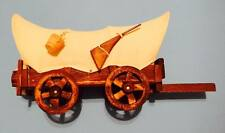 14 Inch Collectible Vintage Covered Wooden Canvas Wagon Western Cowboy Art Decor