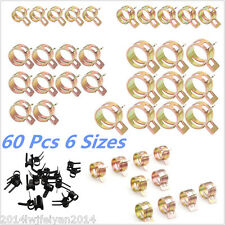 60pcs Spring Clip Fuel Oil Water Air Tube Pipe Clamp Fastener 7/10/11/14/16/17mm
