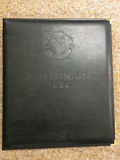 2000 Futera Platinum Millennium Gold Manchester United  Leather Embossed Album