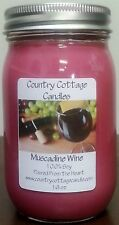 16 oz Hand Poured Soy Candle Muscadine Wine.FREE SHIPPING