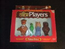 vintage Muppets Stick Puppets Fisher Pirice 1978 in box Kermit Miss Piggy Fozie