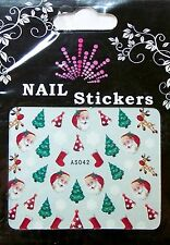 Christmas, Water Nail Sticker Tatoo, Weihnachten , AS042