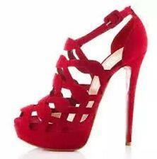 Christian Louboutin Larissa Plato 150 Suede Sandals - Red