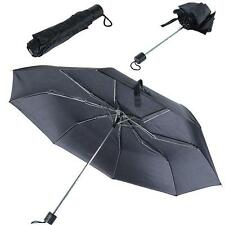 Portable Foldable Folding Compact Windproof Anti-UV Rain Sun Umbrella Black
