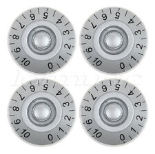 4 Pcs Silver Guitar Speed Control Knobs for Gibson epiphone Les Paul Knob Parts