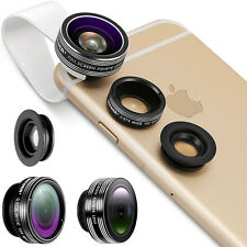 Neewer 3-in-1 Clip-on Lens Kit Fisheye/Macro/Wide Angle Lens for iPhone6 Samsung