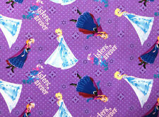 DISNEY FROZEN FOREVER SISTERS ANNA & ELSA PURPLE VALANCE CURTAIN