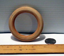 """Wooden Toss Teething Ring 3"""" w/ 2"""" hole in Center New Unfinished Wood Craft"""