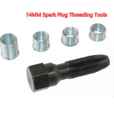 Universal 14MM Spark Plug Threading Tools 4 Inserts Threader eInsert Tap Repair