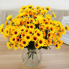 14Head Fake Sunflower Artificial Silk Flower Bouquet Chic Home Room Table DecorF