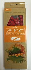 PYC BMX Bike Chain 100 Hollow Half Link Red Coloured 1/2'' x 1/8in Chains