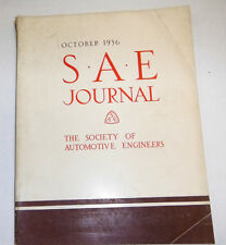 S.A.E  Journal  Society Of Automobile Engineers October 1936  Vol.39  100614lm-e