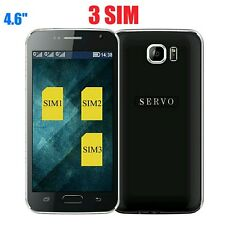 "Three SIM Card 4.6"" Quad Band Mobile phone GSM WIFI Bluetooth 2017"