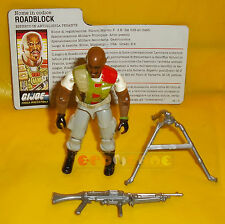 ROADBLOCK (v2) 1986 Series 5 - With Card - G.I. Joe GI Hasbro ○○○○ COMPLETO