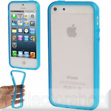 Translucent TPU Bumper Frame Case for iPhone 5 (Blue) SALE !!