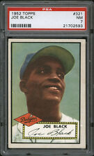1952 Topps #321 Joe Black High Number PSA 7 Rookie Card
